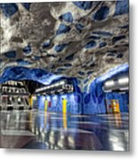 Stockholm Metro Art Collection - 003 Metal Print