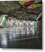 Stockholm Metro Art Collection - 012 Metal Print