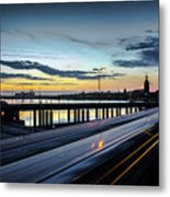 Stockholm Night - Slussen Metal Print