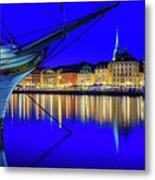 Stockholm Old City Blue Hour Serenity Metal Print