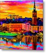 Stockholm Reflective Art Metal Print