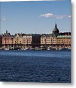 Stockholm Waterscape Metal Print