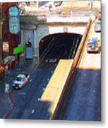 Stockton Street Tunnel In Heavy Shadow . Long Version Metal Print
