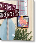 Stockyards Fort Worth 6815 Metal Print