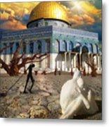 Stolen Light-dome Of The Rock Temple Mount Metal Print