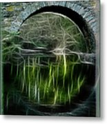 Stone Arch Bridge - Ny Metal Print