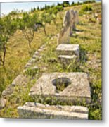 Stone Artifacts Of Ancient Town Of Asseria  Metal Print
