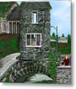 Stone Bridge House In The Uk Metal Print