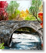Stone Bridge In Maine  Metal Print