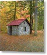 Stone Building In Autumn Metal Print