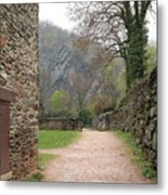 Stone Building Wall And Fence Metal Print