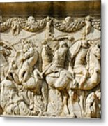 Stone Carving On Mausoleum Of The Julii Metal Print