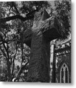 Stone Cross Metal Print