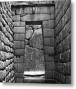 Stone Door Metal Print