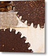 Stone Eater In Lime Stone Quarry - Lithica Metal Print