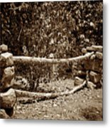 Stone Fence S Metal Print