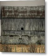 Stone Foundation Barn Metal Print
