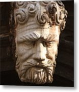 Stone Head In Venice Metal Print