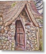 Stone House In Skagit County Metal Print