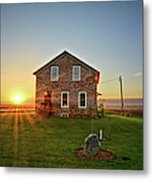 Stone House Sunrise Metal Print