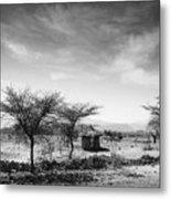 Stone Hut Set In Grassland Plains Metal Print by David DuChemin
