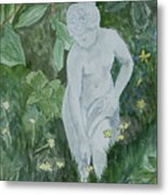 Stone Lady In The Butercups Metal Print