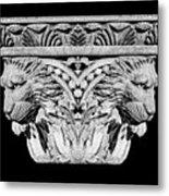 Stone Lion Column Detail Metal Print
