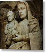 Stone Madonna And Child Metal Print