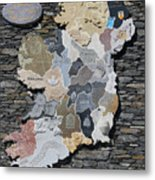 Stone Map Of Ireland Metal Print