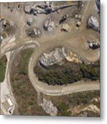Stone Quarry Aerial Metal Print