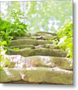 Stone Stairs Metal Print by Stefano Piccini