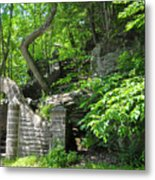 Stone Stairway Along The Wissahickon Creek Metal Print