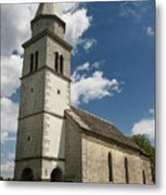 Stone Tile Roof Of The Church Of The Holy Cross In Tomaj Parish  Metal Print