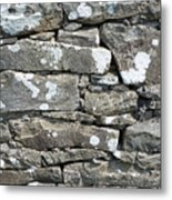 Stone Wall Detail Doolin Ireland Metal Print