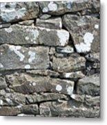 Stone Wall Detail Doolin Ireland Metal Print