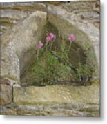 Stone Wall Determination Metal Print