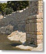 Stone Wall In Foca Metal Print