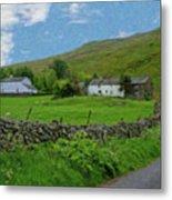 Stone Wall Lake District - P4a16012 Metal Print