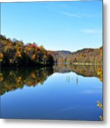 Stonecoal Lake In Autumn Color Metal Print