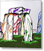 Stonehenge Chakras Metal Print