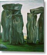 Stonehenge In Spring 2 Metal Print