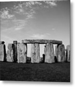 Stonehenge On A Clear Blue Day Bw Metal Print