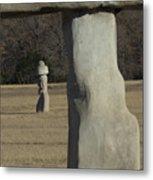 Stonehenge Two Meets Easter Island Metal Print