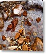 Stones And Ice Metal Print