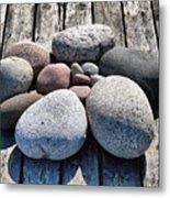 Stones And Old Wood 3  Metal Print
