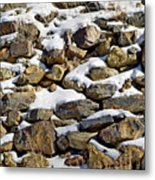 Stones And Snow Metal Print