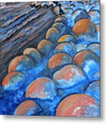 Stones By The Sea Metal Print