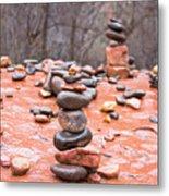 Stones In Balance Metal Print