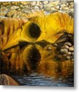 Stones Ocoee River In Tennessee Landscape Original Oil Paintings Metal Print