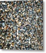 Stones On South Beach In Arklow Ireland Metal Print